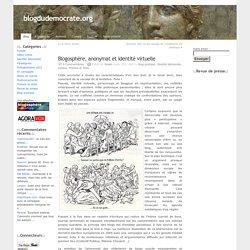 """""""Blogosphère, anonymat et identité virtuelle"""" par Soseki"""