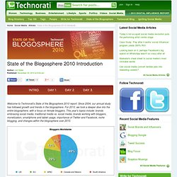 State of the Blogosphere 2010 Introduction - Technorati Blogging