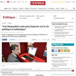 """""""Une blogosphère unie peut impacter sur la vie politique et médi"""