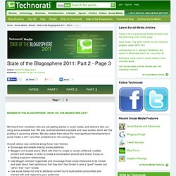 State of the Blogosphere 2011: Part 2 - Page 3 - Technorati Blogging