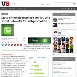 State of the blogosphere 2011: Using social networks for self-promotion
