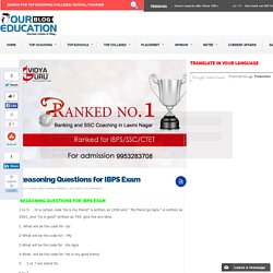 Reasoning Questions for IBPS Exam