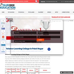 Distance Learning College in Patel Nagar
