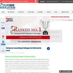 Distance Learning Colleges in Katwaria sarai delhi