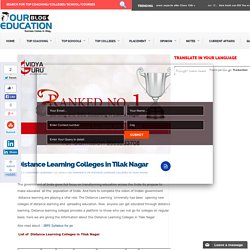 Distance Learning Colleges in Tilak Nagar