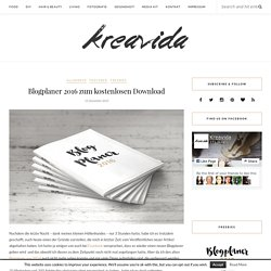 Blogplaner 2016 zum kostenlosen Download - Kreavida