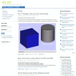 Blogs | AEC 3DP