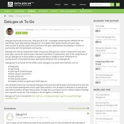 Data.gov.uk To Go