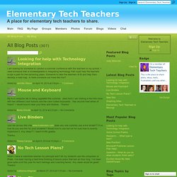 Blogs - Elementary Tech Teachers