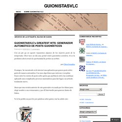 blogs de guion | GUIONISTASVLC