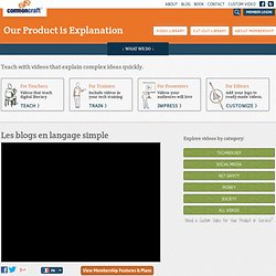 Les blogs en langage simple