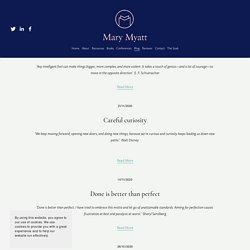 Blogs — Mary Myatt Learning