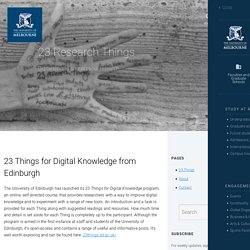 23 Research Things blog / University of Melbourne