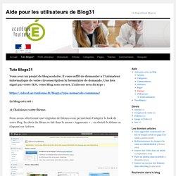 Aide pour les utilisateurs de Blog31