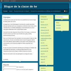 Blogue de la classe de 6e » À propos