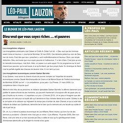 Le blogue de Léo-Paul Lauzon