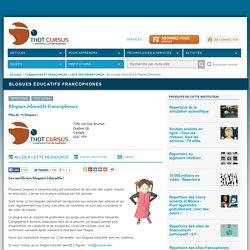 Blogues éducatifs francophones