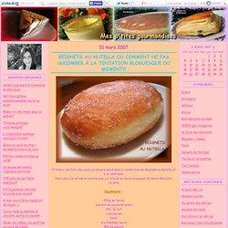Beignets au Nutella ou comment ne pas sucomber à la tentation bloguesque du moment!!! - Mes ptites gourmandises