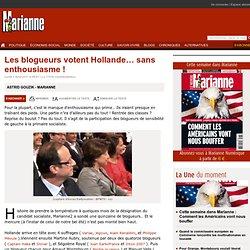 Les blogueurs votent Hollande… sans enthousiasme !