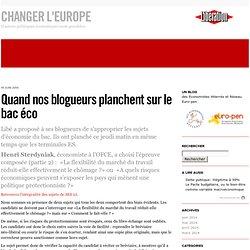 Quand nos blogueurs planchent sur le bac éco - Changer l'Europe!