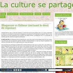 Blogueuse vs Éditeur