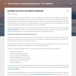 BLOKKERT UW AVAST-ANTIVIRUS DE WEBCAM?