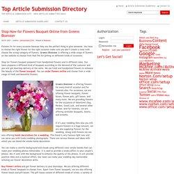 Køb nu blomsterbuket online fra Greens Blomster
