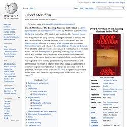 Blood Meridian - Wikipedia