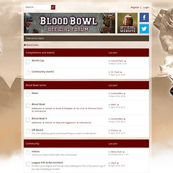 Blood Bowl • Index page