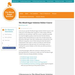 The Blood Sugar Solution Online Course