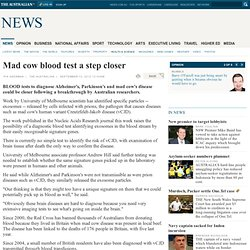 Mad cow blood test a step closer