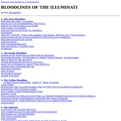 BLOODLINES OF THE ILLUMINATI by Fritz Springmeier (one document)