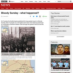 Bloody Sunday - what happened?