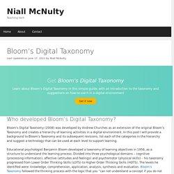 Bloom's Digital Taxonomy – Niall McNulty