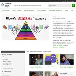 Bloom's Digital Taxonomy Video