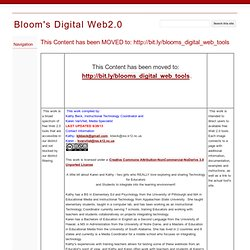Bloom's Digital Web2.0