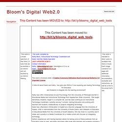 Bloom's Digital Web2.0