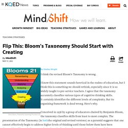 Flip This: Bloom's Taxonomy Should Start with Creating