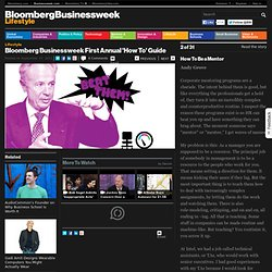 Bloomberg Businessweek First Annual 'How To' Guide: How To Be a Mentor