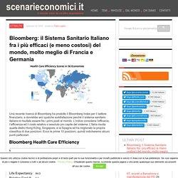 Bloomberg: il Sistema Sanitario Italiano fra i più efficaci (e meno costosi) del mondo, molto meglio di Francia e Germania