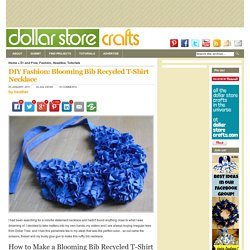 DIY Fashion: Blooming Bib Recycled T-Shirt Necklace