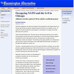 Occupying NATO and the G-8 in Chicago | The Bloomington Alternative