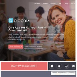 Bloomz - Teacher Parent Communications App