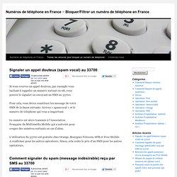 Bloquer/Filtrer un numéro de téléphone en France
