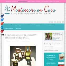Bloques con ventanas de colores DIY - DIY colored window blocks