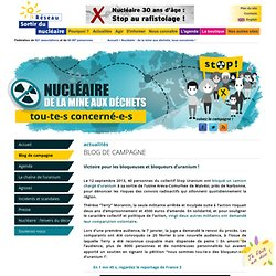 Narbonne, 20 février : procès des bloqueuses et bloqueurs d'uranium