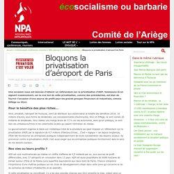 Bloquons la privatisation d'aéroport de Paris