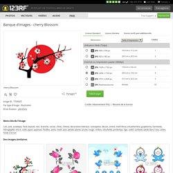 Cherry Blossom Clip Art Libres De Droits , Vecteurs Et Illustration. Pic 7709925.