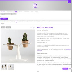 Blossy: Planter STL model ・ Cults