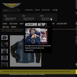 Blouson moto vintage Rusty Pistons Rutland, veste jean et cuir